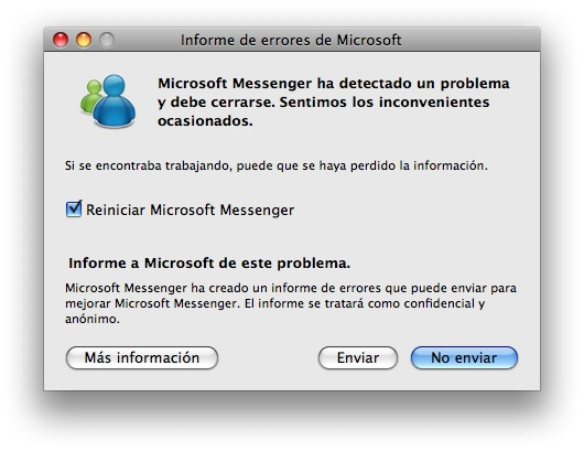 error de messenger mac