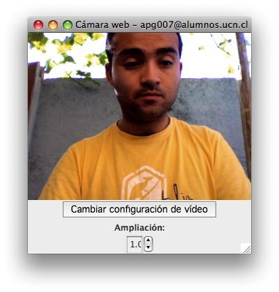 ventana de webcam en aMSN