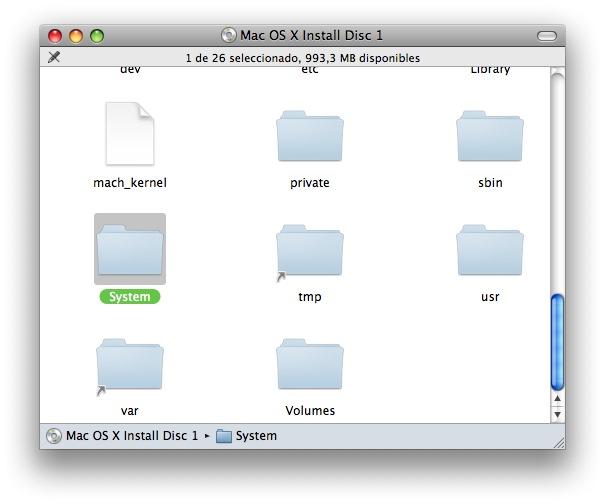 disco de Mac OS X
