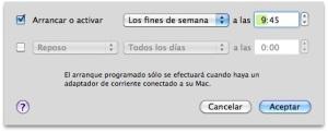 Programar arranque del Mac
