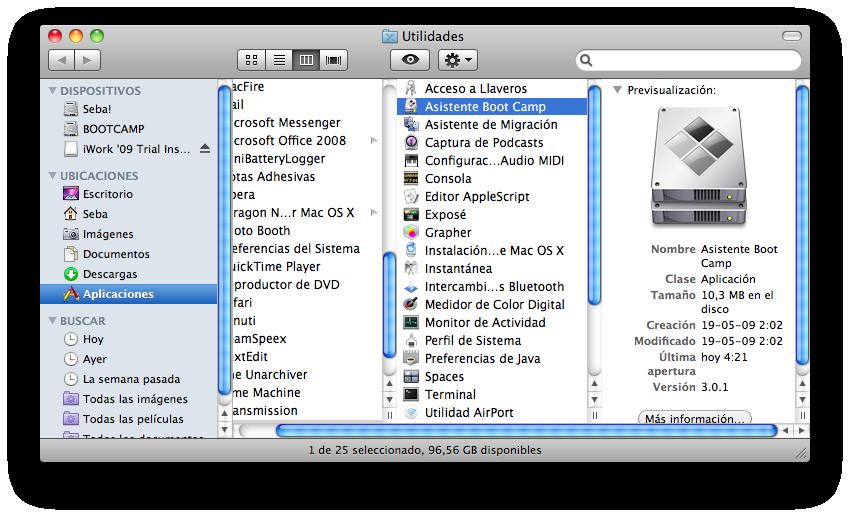 Boot Camp: Instalar Windows 7 en MAC
